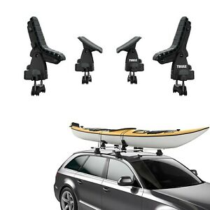 Thule Roof Rack Kayak Carrier Load Assist Pivoting Saddles Up To 36 Inch 75lbs