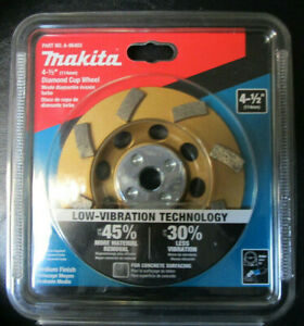 Makita 4 1 2 8 Segment Low Vibration Medium Finish Diamond Cup Wheel