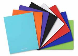 Poly Pocket Folders 8 Pack Assorted Colors