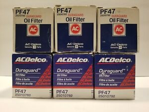 Ac Delco Pf47 Engine Oil Filter Nos 25010792 Vintage 1980s Gm Parts Lot Of 6