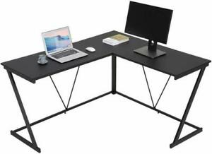 L shaped Desk Corner Computer Gaming Laptop Table Workstation Home Office Chair