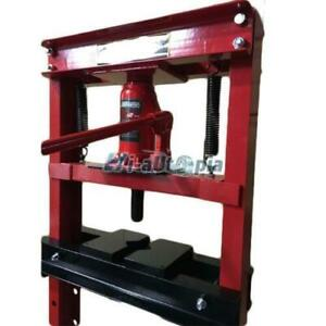 Hydraulic Shop Press Floor Press 12 Ton H Frame Free Shipping Red High Quality