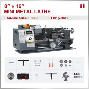 1hp 8x16 Inch 2250rpm Mini Metal Lathe W Brushless Motor 3 jaw Chuck More