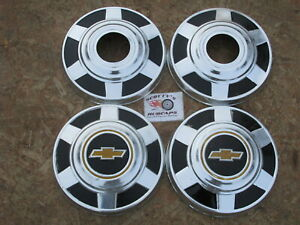 1973 87 Chevy 3 4 Ton 4x4 Pickup Truck Van Dog Dish Hubcaps Set Of 4
