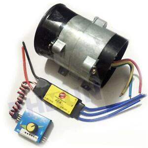 Car Electric Turbo Supercharger Intake Fan Boost W Electronic Speed Control 12v