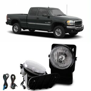 For 2007 Gmc Sierra 2500 Hd Classic Sl Sle Slt Wt Fog Lamps Direct Replacment
