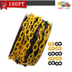 100feet Crowd Control Plastic Safety Barrier Chain With 10s hook For Outdoor
