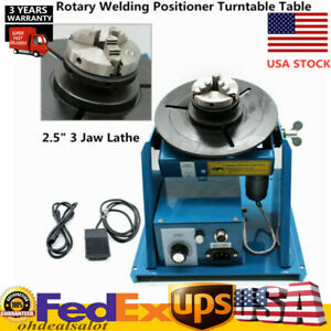 110v Rotary Welding Positioner Turntable Table 2 5 3 Jaw Lathe Chuck Hotsale