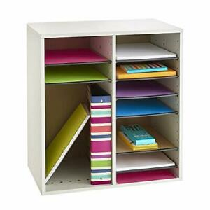Safco Products Wood Adjustable Literature Organizer 16 Compartment 9422gr Gra