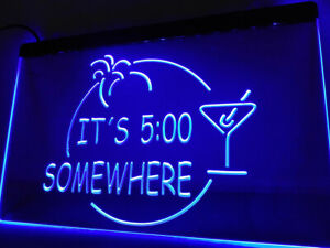 Its 500 Somewhere Margarita Sign Bar Beer Pub Club Led Neon Cafe Sign
