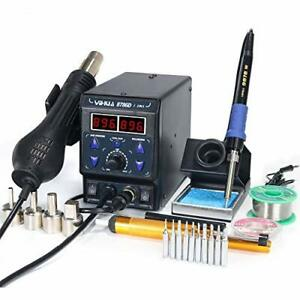 8786d I 2 In 1 Hot Air Rework And Soldering Iron Station With f c