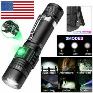 Super Bright 90000LM LED Tactical Flashlight Zoomable With Rechargeable Battery $11.99