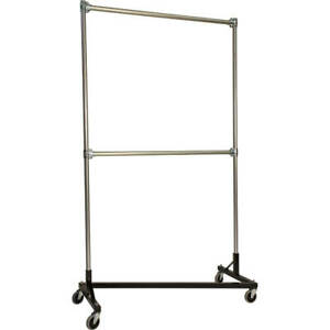 Z rack Heavy Duty Clothes Rack 48 L X 84 Uprights Double Rail Black 248842