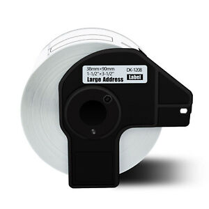 1roll 38mmx90mm Shipping Label 1 1 2 x3 1 2 Compatible Brother Ql 1050 Dk 1208