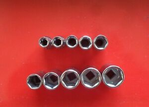 10 Craftsman Metric Sockets Made In Usa 1 4 Drive 6 Point G2 Series