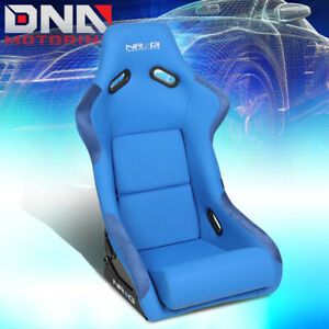 Nrg Innovations Blue Fixed Back Bucket Racing Seat Fiber Glass Large Frp 300bl