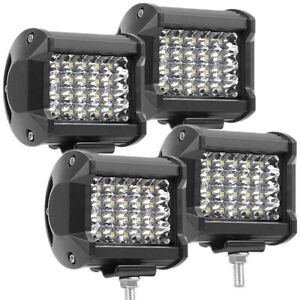 4pcs 240w Pods Led Work Light Spot Lights For Truck Off Road Tractor Square Elh