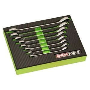 Tools Ringstop 8 piece Sae 12 point Angled Head Combination Wrench Set