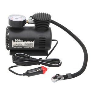 300psi 12v Portable Mini Air Compressor Car Electric Tire Air Inflator Pump Us