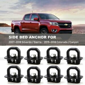 8pcs Tie Down Anchor Truck Bed Side Wall Anchors For Chevy Silverado Gmc Sierra