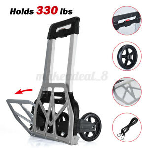330lb Portable Cart Folding Dolly Push Truck Hand Collapsible Warehouse Trolley