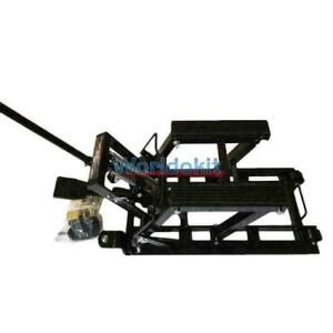 Motorcycle Lift Jack 1500lb 680kg Hydraulic Atv Stand Table Bench High Quality