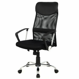 Black Modern Ergonomic Mesh High Back Executive Computer Desk Task Office Chair