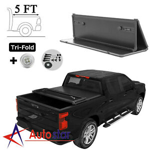 Hard Tri fold Tonneau Cover For 2019 2020 2021 Ford Ranger 5ft Truck Bed 61