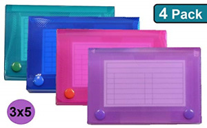 1intheoffice Index Card Case 3 X 5 Index Card Holder Assorted Colors 4 Pack