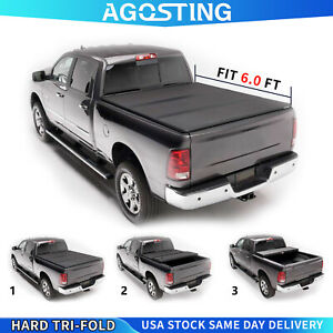 Hard Tri fold Tonneau Cover For 2019 2021 Ford Ranger 6ft Bed Pickup Truck Bed