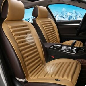 2 Air Fan Cooling car Front Seats Cushion Covers Pad ventilated beige 12v