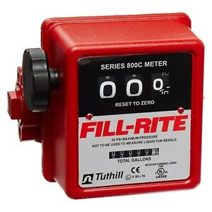Fill rite 5 20 Gpm Gallons Heavy duty Mechanical Flow Meter