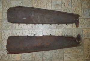 1930 1931 Ford Model A Closed Cab Pickup Above Door Panels Pair W Rain Gutters