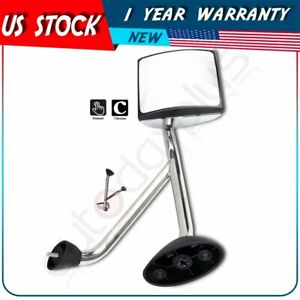 Truck Hood Mirror Assembly For 2002 newer International Rh Side Chrome Manual