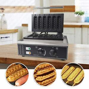 1500w Electric Commercial Hot Dog Waffle Maker Machine Nonstick Kitchen Machine