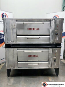 Used Blodgett 1000 Pizza Oven Double Stack
