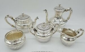 Gorham Sterling Silver Tea Coffee Set With Silver Gallery Tray
