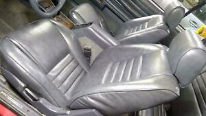 1989 Chrylser Lebaron Convertible Leather Seat Set front rear Gray Oem