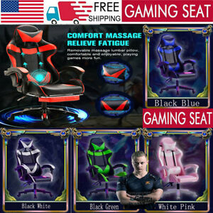 Gaming Chair Spin Racing Style Office home Chairs Leather Computer Massage Seats
