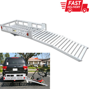 Hitch Mount Xl Cargo Carrier Electric Chair Scooter Snow Blower Lawn Mower Ramp