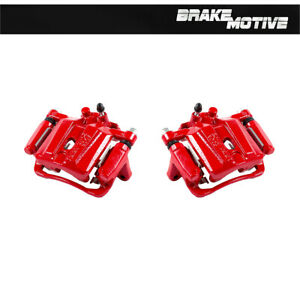 For 2007 2010 2011 Mitsubishi Eclipse Galant V6 Rear Red Coated Brake Calipers