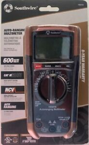 Southwire 10041n Auto Ranging Multimeter Ac Dc 600v