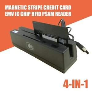 Magnetic 4 in 1 Stripe Credit Card Emv Ic Chip Rfid Psam Reader Writer Yl160