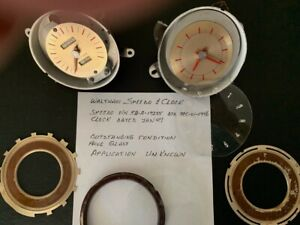 1946 1947 Waltham Speedometer And Clock Possibly Ford Or Mercury