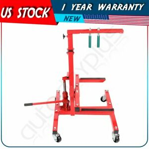 New Autobody Mobile Rolling Door Bumper Hydraulic Press Jack Stand Dolly