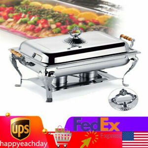 Stainless Square Food Warmer Buffet Banquet Chafer Warmer Warming Dish Heater