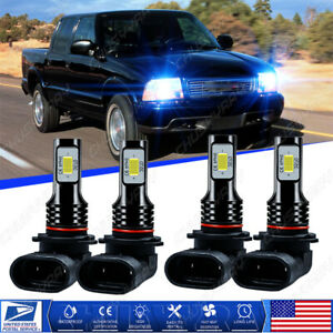 For Gmc Sonoma 1994 2004 High Low Beam Combo Led Headlight Bulbs Kit 8000k Set 4
