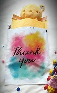 Designer Polymailer Colorful Thank You Poly Mailers 10x13