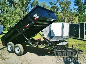New 2021 7x14 7 X 14 14k Gvwr Hydraulic Dump Trailer Equipment Hauler 24 Sides