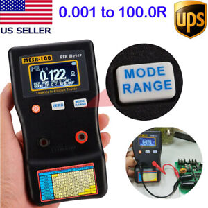 Mesr 100 V2 Auto Ranging In Circuit Esr Capacitor Tester Meter 0 001 To 100r Us